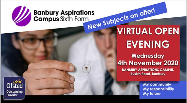 Sixth Form Virtual Open Evening poster