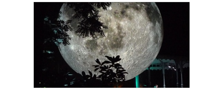 The moon sculpture