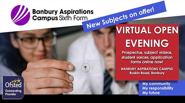 Virtual Open Evening poster