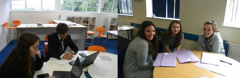 Sixth form students study areas